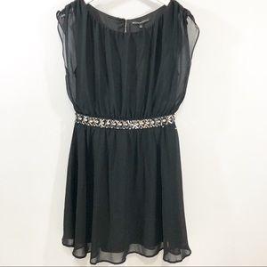 Symphony Black Cocktail Dress Size L NWT
